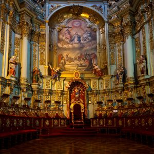 The Altar of the San Francisco Church in Quito