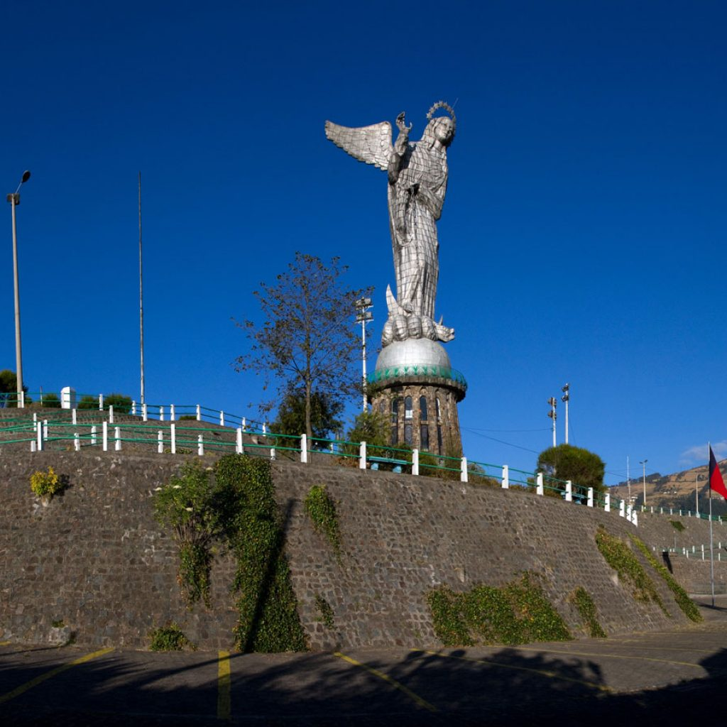 A view of the Panecillo of Quito