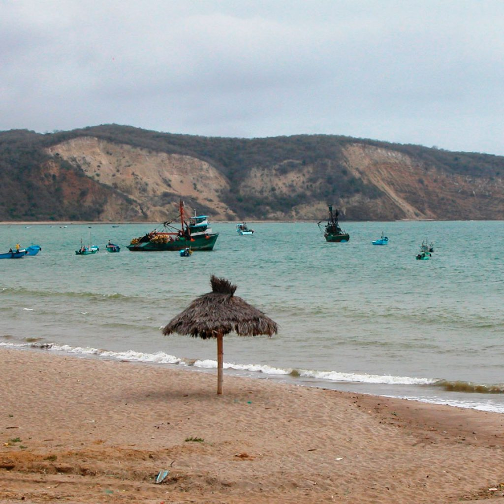The beach of the Playa de los Friales